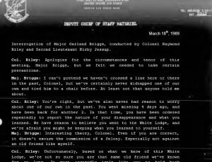 Project Blue Book Transcript: Interrogation of Major Garland Briggs