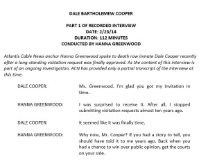 Transcript Excerpt: 2014 interview with Dale Cooper