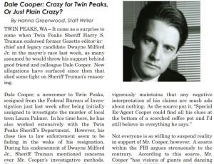 Gazette Archive - Dale Cooper's Campaign