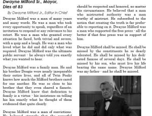 Transcript - Dwayne Milford Sr. Obituary